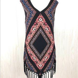 As U Wish boho tribal fringed dress